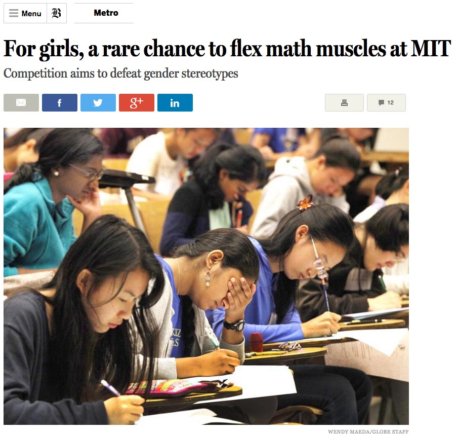 For girls, a rare chance to flex muscles at MIT
