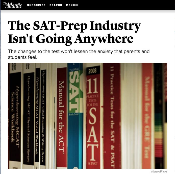 The SAT-Prep Industry Isn't Going Anywhere