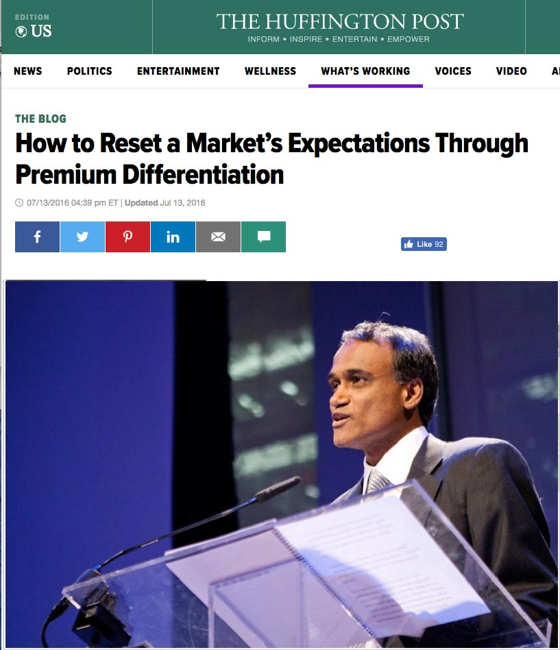 How to Reset a Market's Expectations Through Premium Differentiation