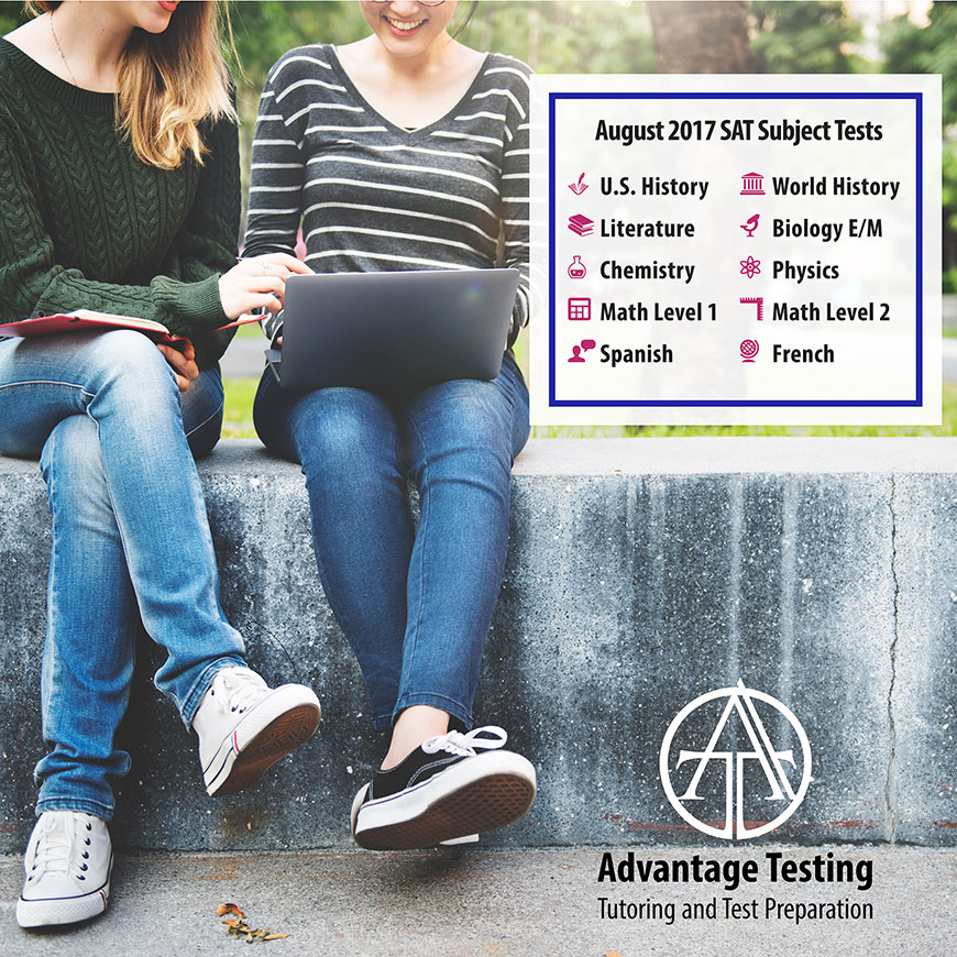The first August SAT administration is next month; make sure you know which Subject Tests are offered
