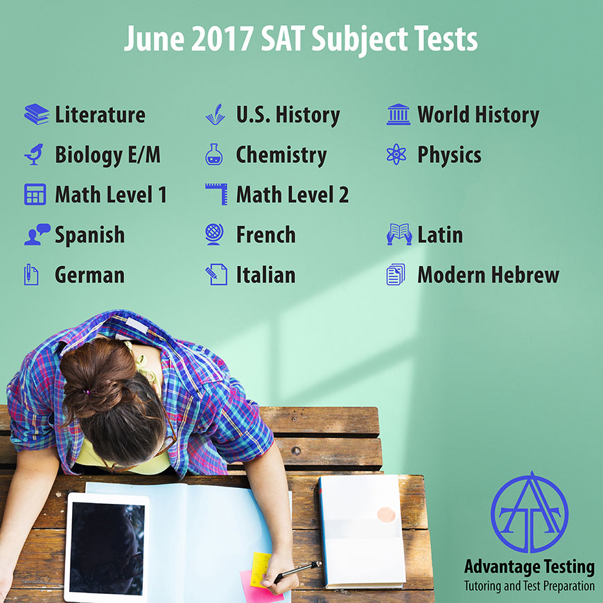 The June SAT Subject Test deadline is approaching—make sure you know which Subject Tests are offered