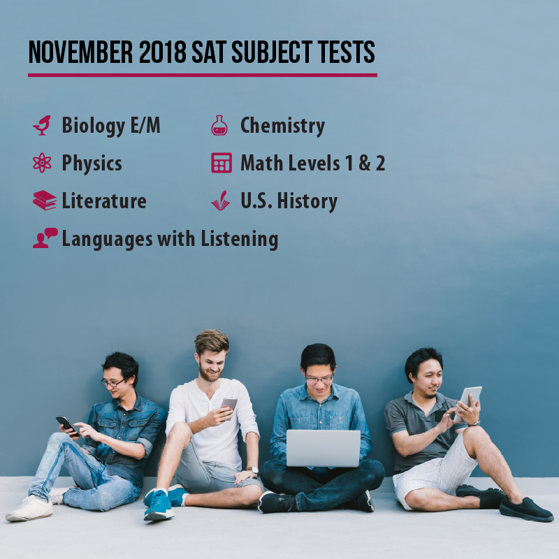 Don't miss the November SAT Subject Tests