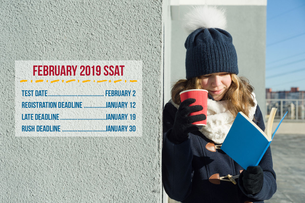 Don't forget to register for the February SSAT