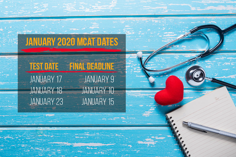 Don't miss the January 2020 MCAT registration deadlines