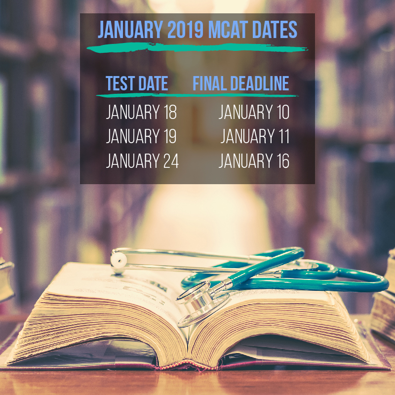 Don't miss the registration deadline for your January MCAT