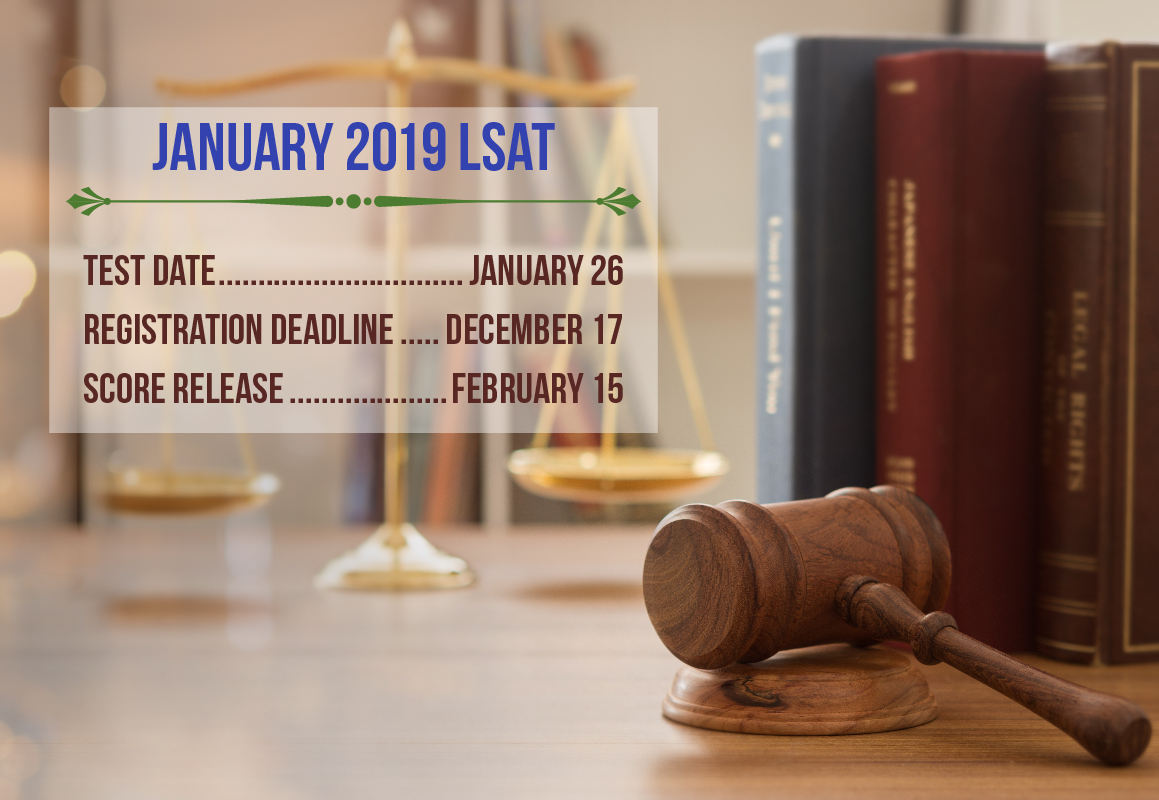 The registration deadline for the January LSAT is December 17