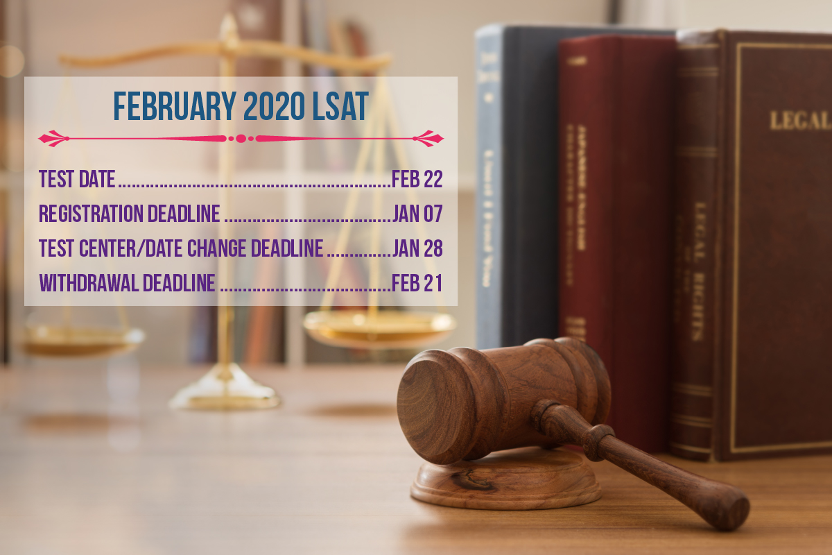 January 7 is the deadline to register for the February 22 LSAT