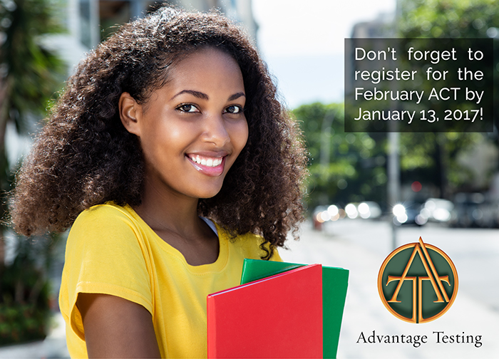 The February ACT deadline is approaching. Register by January 13 (or Jan 20 for late reg)!