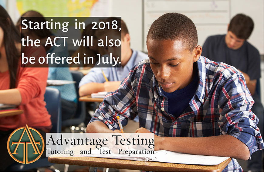 Starting in 2018, the ACT will also be offered in July