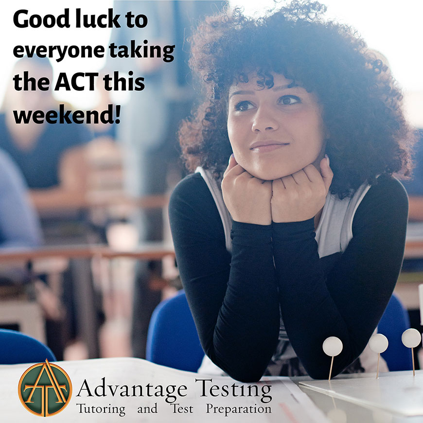 Good luck to everyone taking the April ACT this weekend!