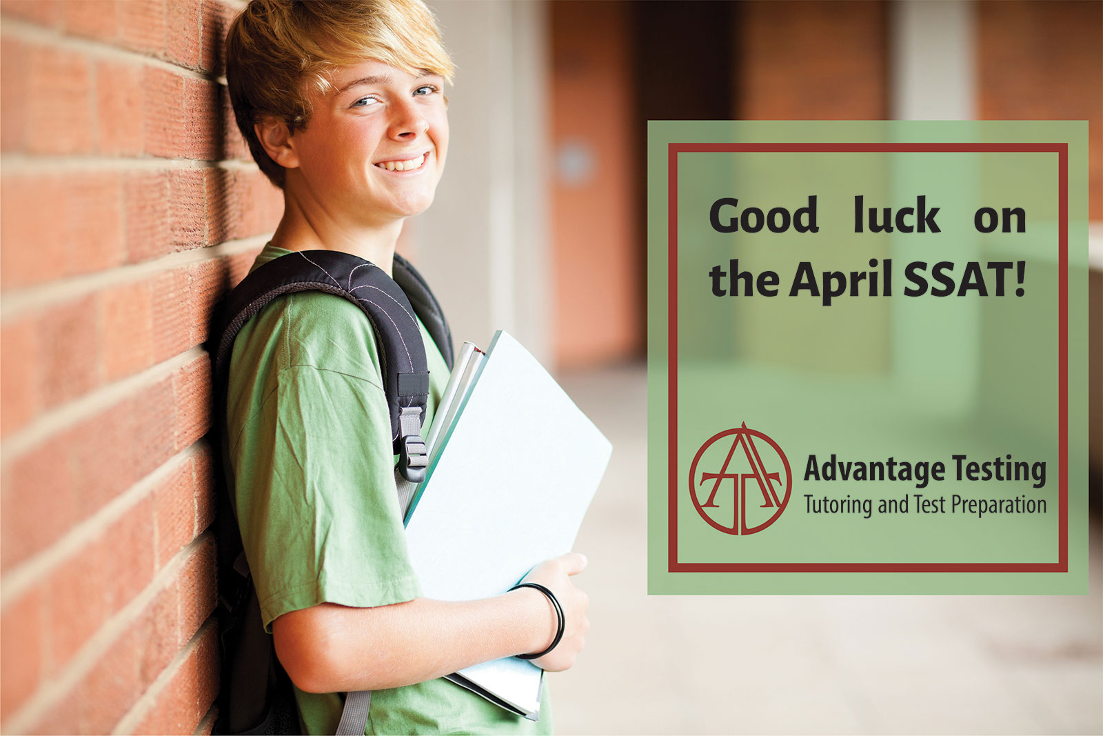 Good luck to everyone taking the SSAT this weekend!