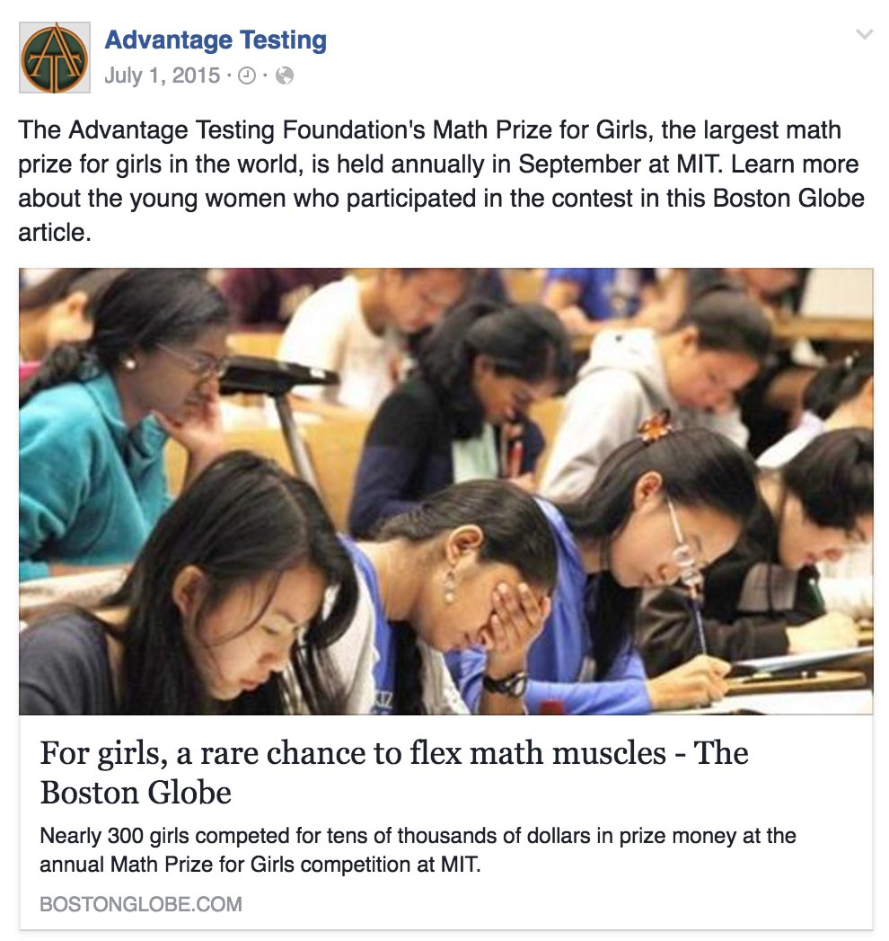 Learn More about The Advantage Testing Foundation's Math Prize for Girls