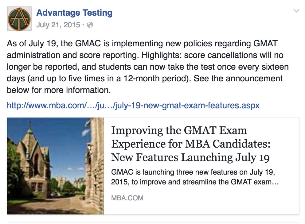 The GMAC is Implementing New GMAT Score Reporting and Administration Policies