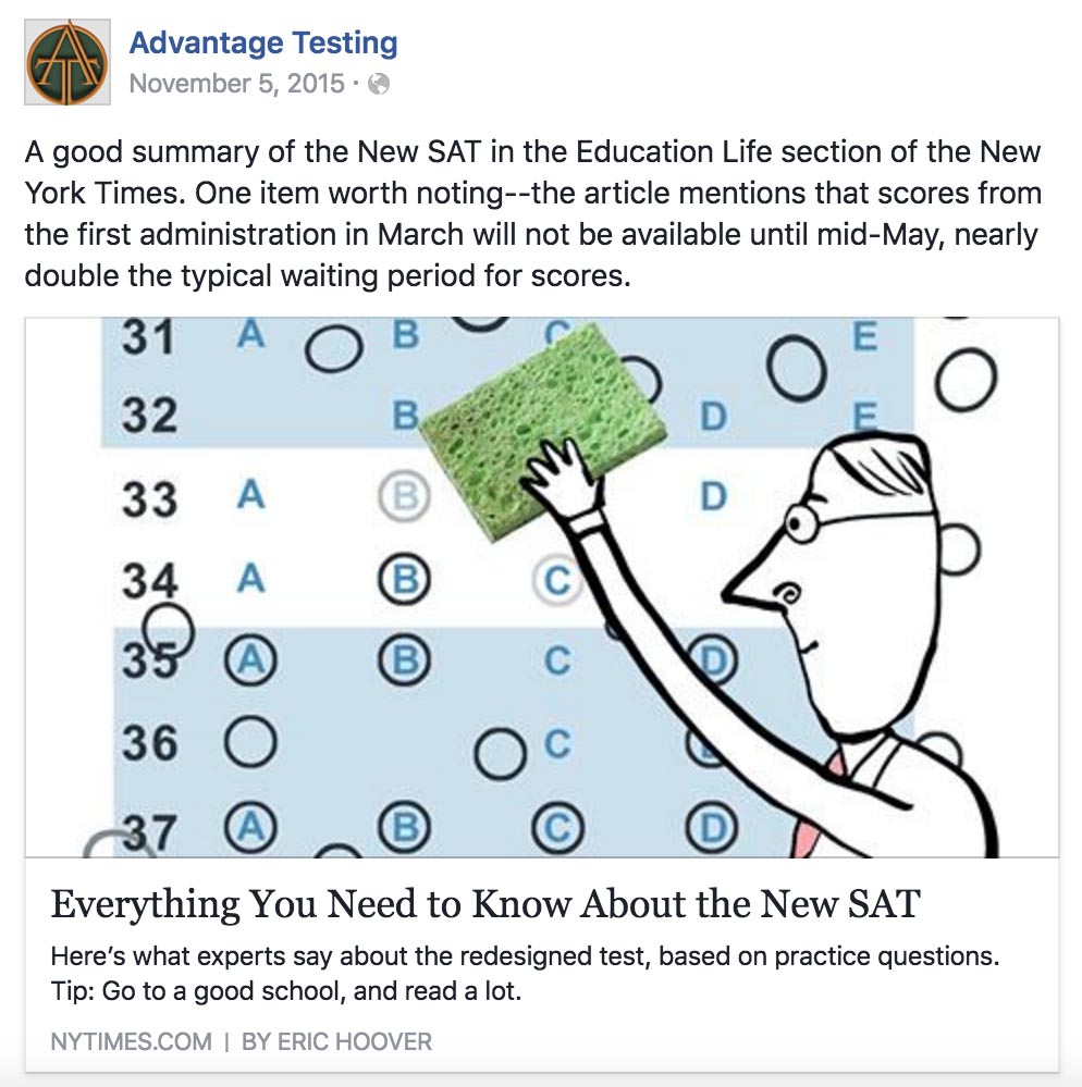 The New York Times Tells You What You Need to Know about the New SAT