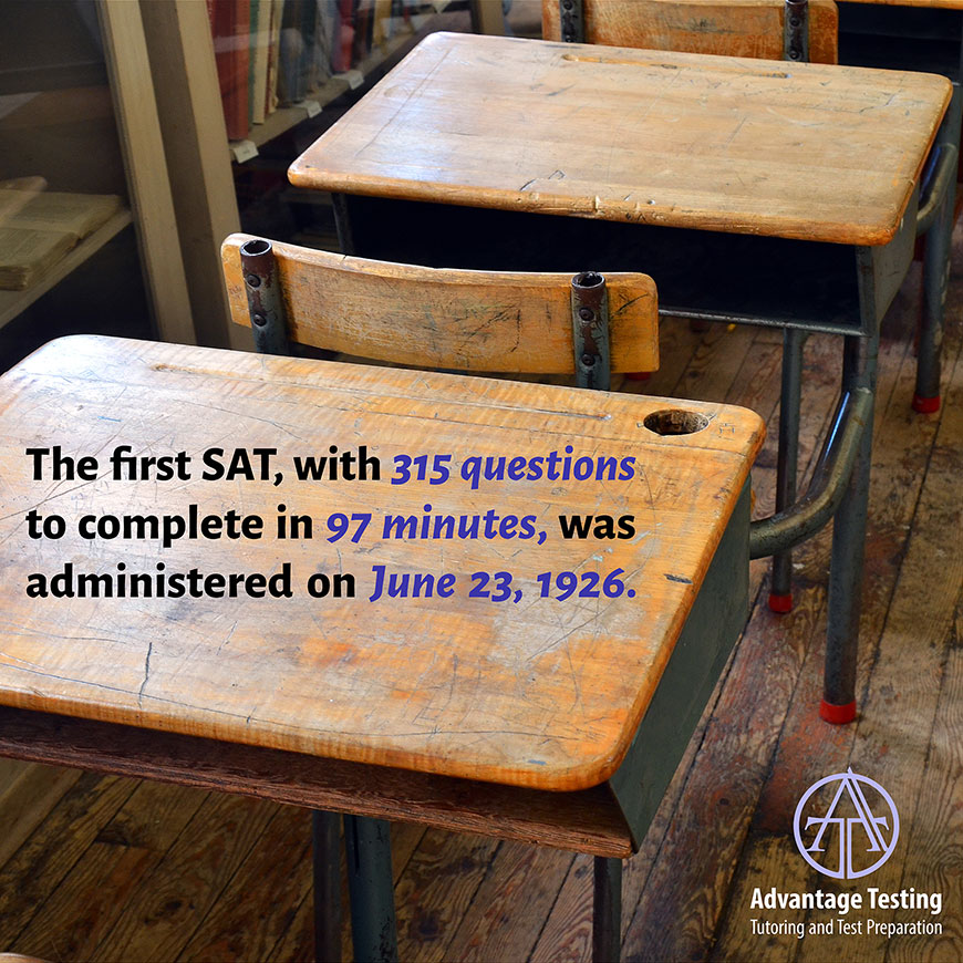 Happy Anniversary To The Sat Which Was First Administered 91 Years Ago Advantage Testing